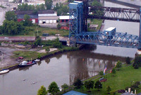 If you look closely, you'll see two rowers in the Cuyahoga River.© Carolyn S. Murray 2006