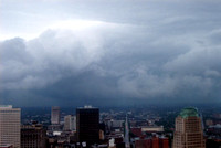 A summer thunderstorm rolling off of Lake Erie -- over downtown Cleveland.© Carolyn S. Murray 2006