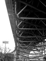 View from underneath the inner belt bridge.  (May 2008)© Carolyn S. Murray 2008