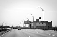 Driving over the inner belt bridge, prior to demolition of the Cleveland Cold Storage Building.  (May 2011)© Carolyn S. Murray 2011
