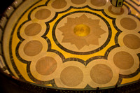 This is a view of the floor of the rotunda, viewed from the third level.