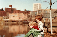 Back in 1985, we took our two sons down to the area of the Flats which is now home to the Powerhouse complex.  (March 1985)© Carolyn S. Murray 1985