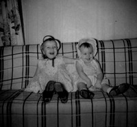And here we have Debby and I, in our Easter bonnets, on Easter 1959.