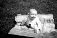 Debby was born in October 1956, so I imagine this photo was taken during the summer of 1957 -- which wasn't that long ago, now was it?  :-)
