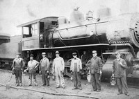 Don's father, Asa Esmond, worked for the railroad.  He's shown in this picture, standing on the far left.