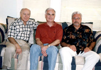 Another family get-together, this time at the Murray homestead.  Don with his Murray cousins:  Dennis and Larry.  (May 2003)