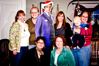 And here we go:  Betsy, Meg, Elvis -- that hunka hunka burnin' love -- Ann, Ollie, Jill, Kristy and I!