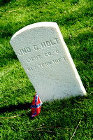 This is the grave of Jno (John) C. Holt, Lt. in Comany C of the 61st Tennessee infantry.(April 22, 2007)© Carolyn S. Murray 2007