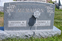 This is the grave of Amanda M. (SMITH) McMAHON (May 15, 1883 - July 3, 1965) and Thomas Edward McMAHON (August 12, 1879 - November 24, 1972).  This grave can be found in the Immaculate Conception Cath