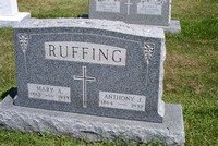 This is the grave of Mary A. (LEIS) RUFFING (March 25, 1864 - January 30, 1933) and Anthony J. RUFFING (1864 - 1932).  This grave can be found in the Immaculate Conception Catholic Cemetery in Lyme To
