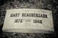 Grave of Mary BEAUBERNARD (1876 - 1940)Id#: 0018598Name: Beaubernard, MaryDate: Nov 27 1940Source: Source unknown;  Cleveland Necrology File, Reel #005.Notes: Beaubernard: Mary, 2509 Euclid Heights bl