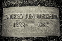 Andrew Beaubernard Grave Lakeview Cemetery Cleveland Ohio 1822 1897