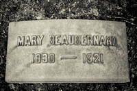 Mary Beaubernard Grave Lakeview Cemetery Cleveland Ohio 1830 1921