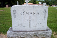 This is the grave of Mary Ann (McCARTNEY) O'MARA (October 24, 1856 - October 31, 1939) and John O'MARA (who was born September 24, 1854 according to his death certificate - June 7, 1926).  Mary Ann wa