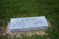 This is the grave of Louise Anna O'MARA (February 16, 1890 - February 20, 1971) and Ambrose James O'MARA (September 9, 1899 - October 7, 1962).  These were children of John and Mary Ann (McCARTNEY) O'