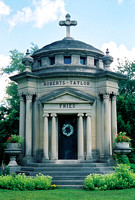 This stately mausoleum can be found in St. Anthony's Cemetery, Milan, Erie County, Ohio.It is the final resting place of Valentine Fries and his extended family.  Mr. Fries was a prosperous ship build