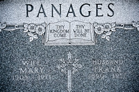 ST. THEODOSIUS CEMETERY / PANAGESThis is the grave of Mary Panages (1905 - 1971) and Frank Panages (1890 - 1957).Id#: 0663664Name: Panages, MaryDate: Jul 20 1971Source: Cleveland Press;  Cleveland Nec