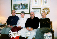 Diane lives in California now but during a visit back to Ohio, she did manage to get together with three of her cousins.  Here's a shot of the four of them:  Dennis, Diane, Larry and Don.  (December 2