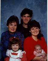 Here's a nice picture of Diane with her children, Tom and Wendy, and grandchildren Ashley and Cameron, which was taken in December, 1988.