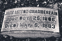 This is the grave of Jane LINTON CHAMBERLAIN (October 25, 1806 - May 5, 1883).