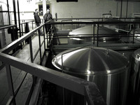Another shot of the top of the some of the tanks at Great Lakes Brewery.  (February 2008)© Carolyn S. Murray 2008