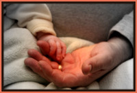 """Grandpas hold our tiny hands for just a little while, but our hearts forever.""(January 23, 2009)© Carolyn S. Murray 2009"