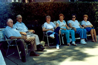 It was a warm day, so everyone tried to find a spot in the shade.  (June 1987)