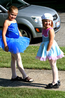 Ashley and Ava had the dress rehearsal for their dance classes this evening and wanted to make sure we saw them all decked out in their costumes!  (June 20, 2008)© Carolyn S. Murray 2008