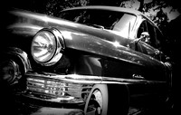 1950 Cadillac Four Door Sedan Black and White Print Photograph For Sale Purchase