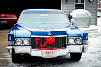 1970 Cadillac Fleetwood Christmas Greeting Red Bow