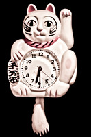 Vintage Cat Clock Moving Tail