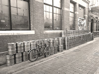 Beer Kegs Outside Pub Dublin Ireland Photograph Print Purchase For Sale Buy