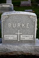 Margaret Murray Thomas Burke Grave Immaculate Conception Catholic Cemetery Bellevue Lyme Huron County Ohio