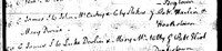 James McCartney, Ardee County Louth Ireland, Baptism Record,