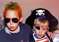 Our Punk Rocker and Pirate -- Halloween 1985!