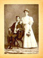 Wedding Portrait of James Lawrence Murray and Catherine Rose McMahon